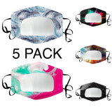 5 PACK Clear Window Mixed Pattern Clear Mask (Mixed)