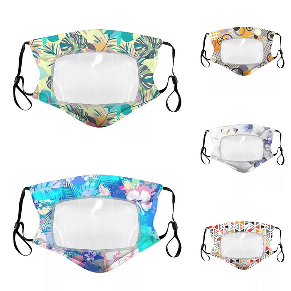 Floral Pattern Clear Window Mask (Many Patterns)