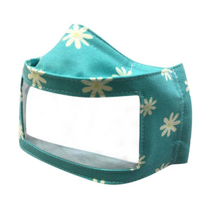 Clear Window Solid Color Mask in Blue Daisy