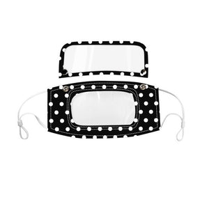1PC of Mixed Polka Dots Hybrid Mask (Many Patterns)