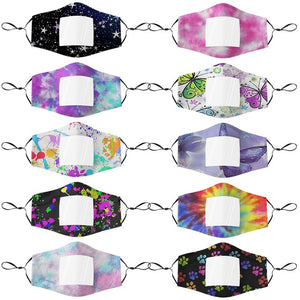 NEWEST 10 PACK- Clear Window Mask Mixed Pattern