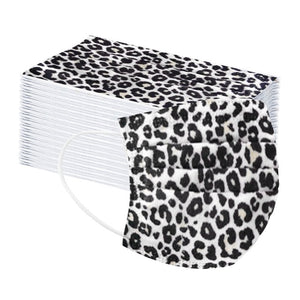 Adult Disposable Masks in Leopard (50 pieces)