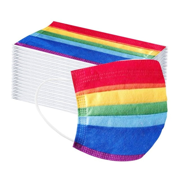 Adult Disposable Masks in Rainbow (50 pieces)