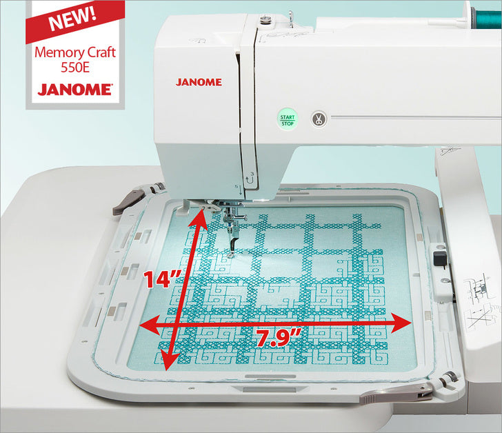Janome Memory Craft 550E  Embroidery Machine: BACK IN STOCK at Wish Upon A Quilt