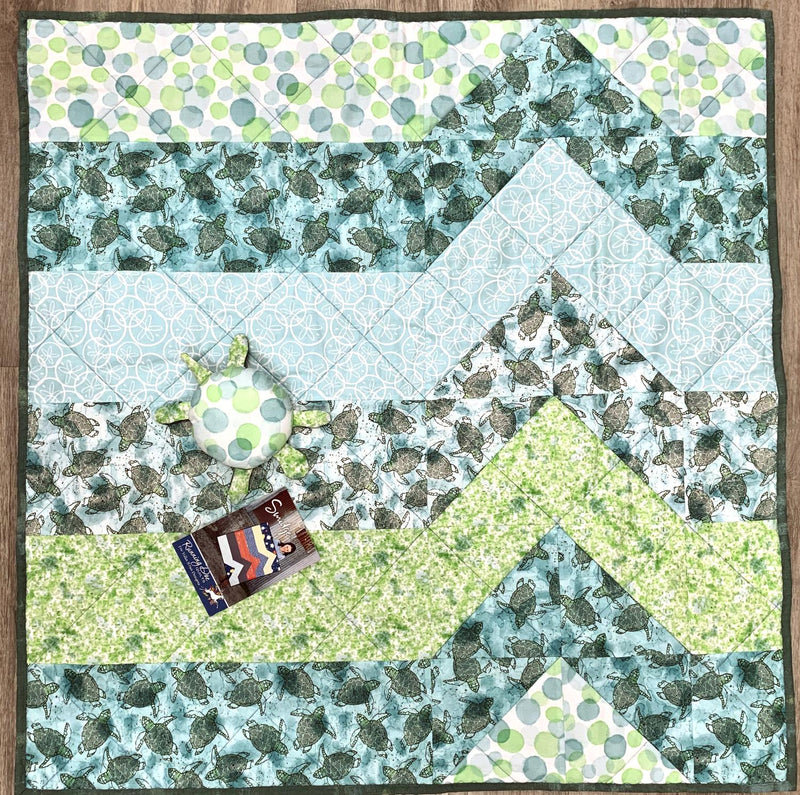 Baby Sea Turtle Crib Quilt Kit