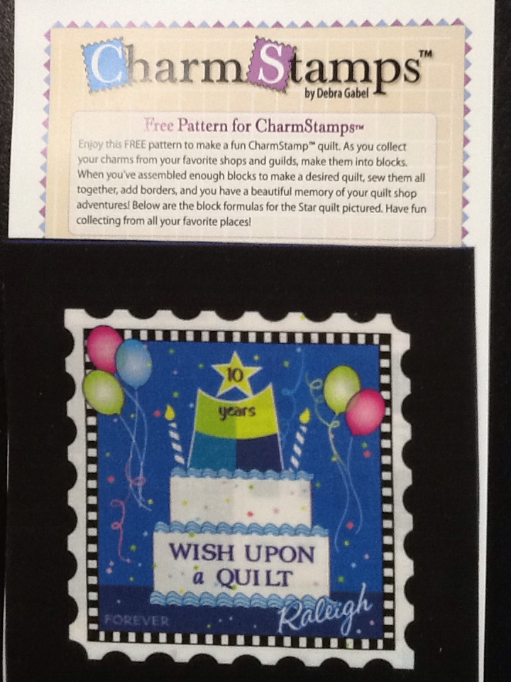 Charm Stamp - Wish Upon a Quilt 10th Anniversary