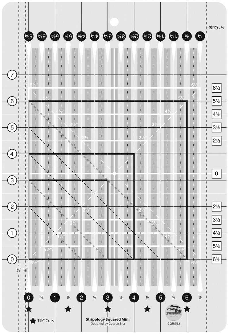 Creative Grids Stripology Mini Ruler CGRGE3