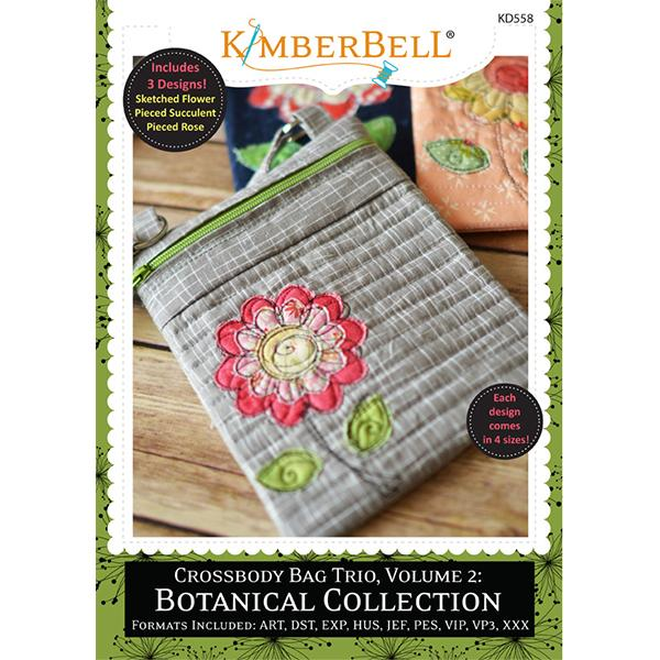 Crossbody Bag Trio, Vol.2: Botanical Collection - Embroidery CD