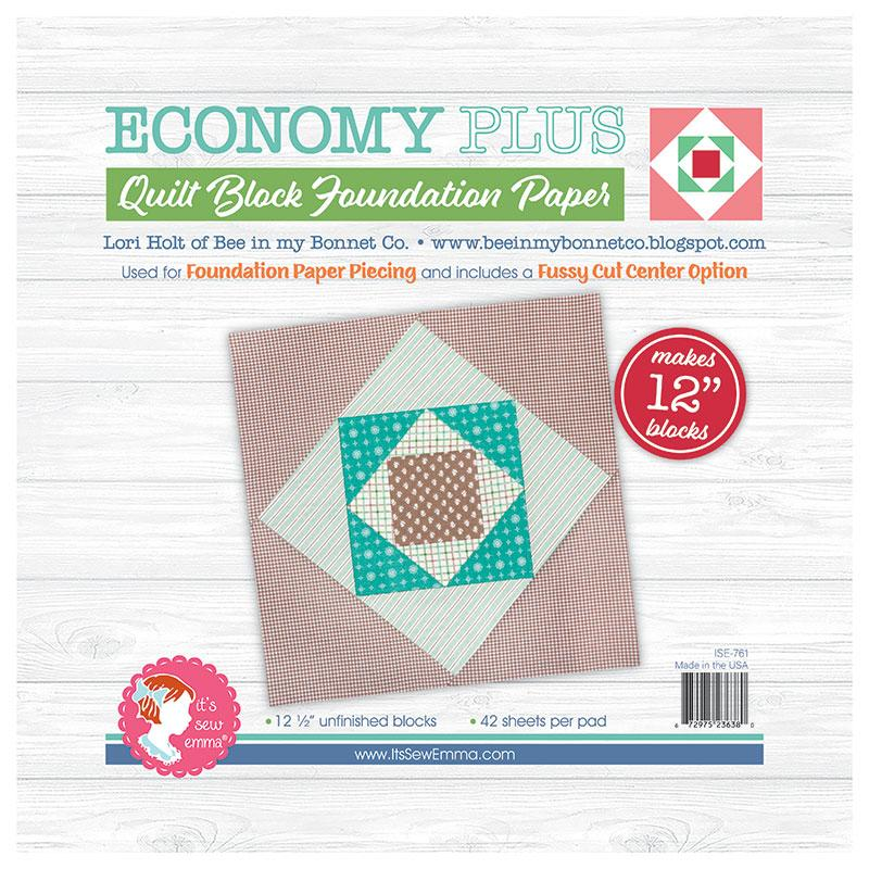 "Economy Plus Quilt Block (12"") Foundation Paper"