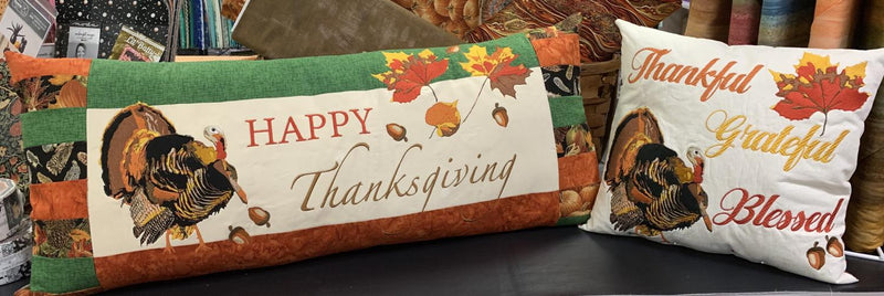 Happy Thanksgiving Bench Pillow Kit - Laurie Kent Designs