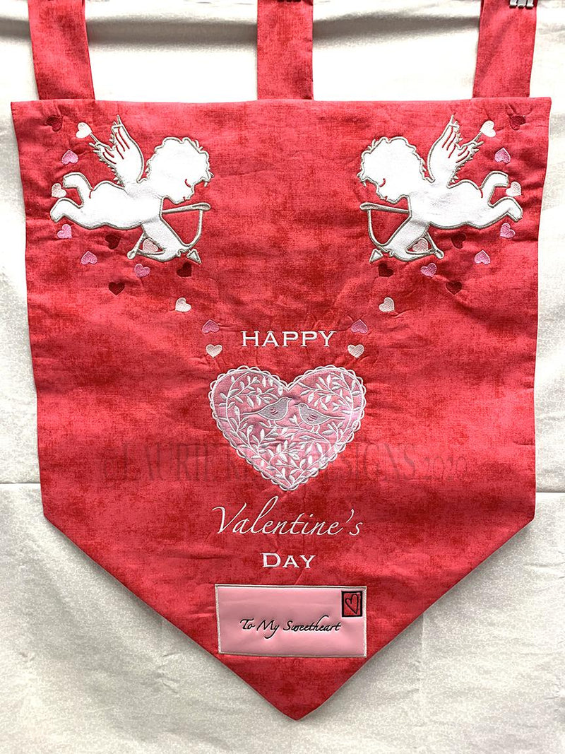 Happy Valentine's Day Door Panel by Laurie Kent Designs - PREORDER