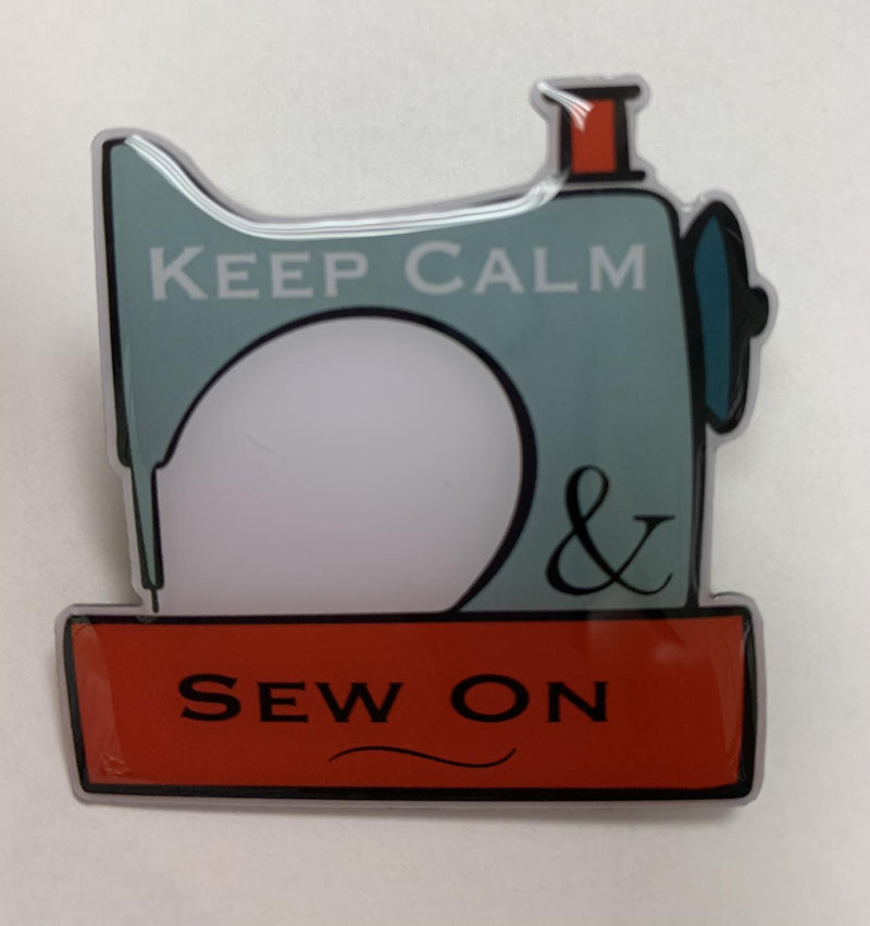 Keep Calm, Sew On Pin