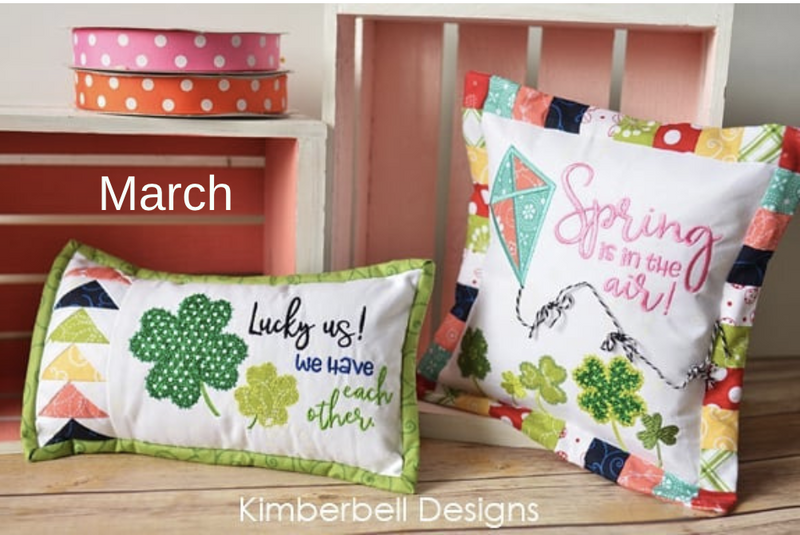 Kimberbell Bench Buddy Pillows  - March  Kit