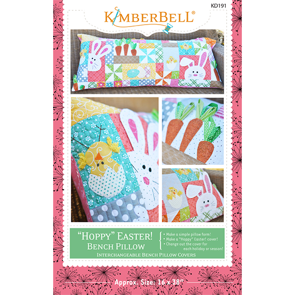 Kimberbell Hoppy Easter Bench Pillow- Sewing   KD191