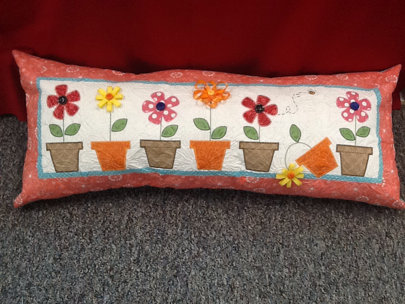 Kimberbell May Flowers Bench Pillow Fabric Kit