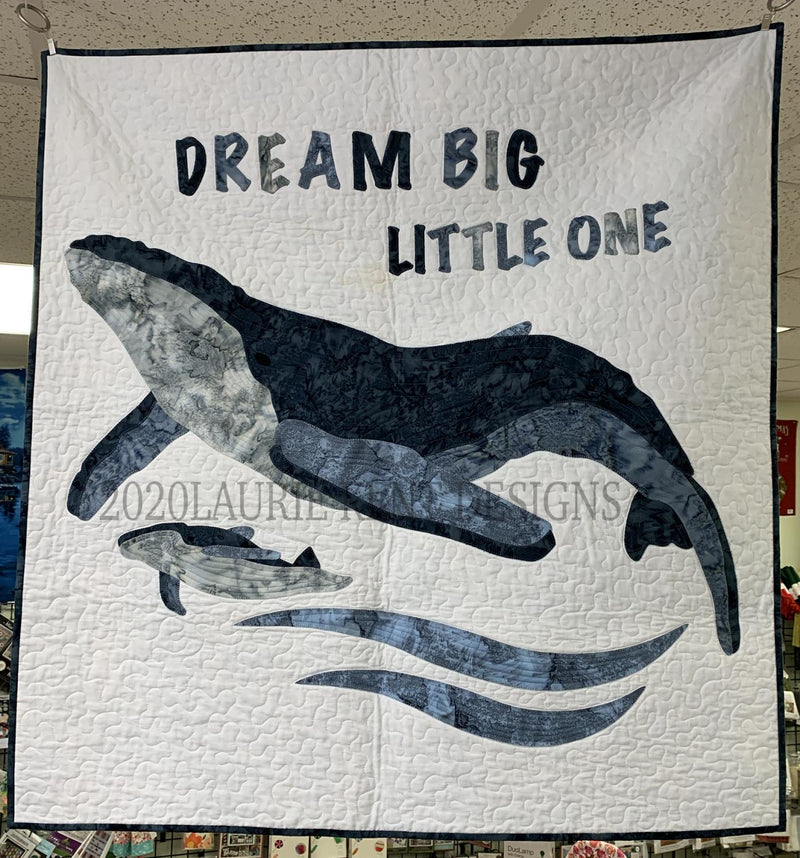 Mama & Baby Whale Applique Pattern by Laurie Kent Designs