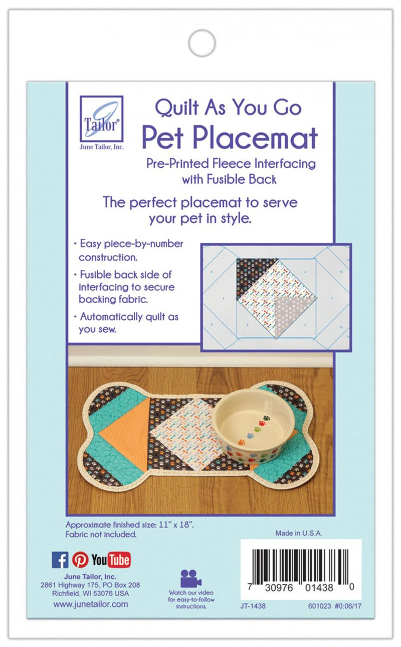 Quilt as You Go Dog Placemat