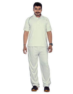 Cricket White Uniform Half Sleeves with Track pant - Bestfit Sportswear