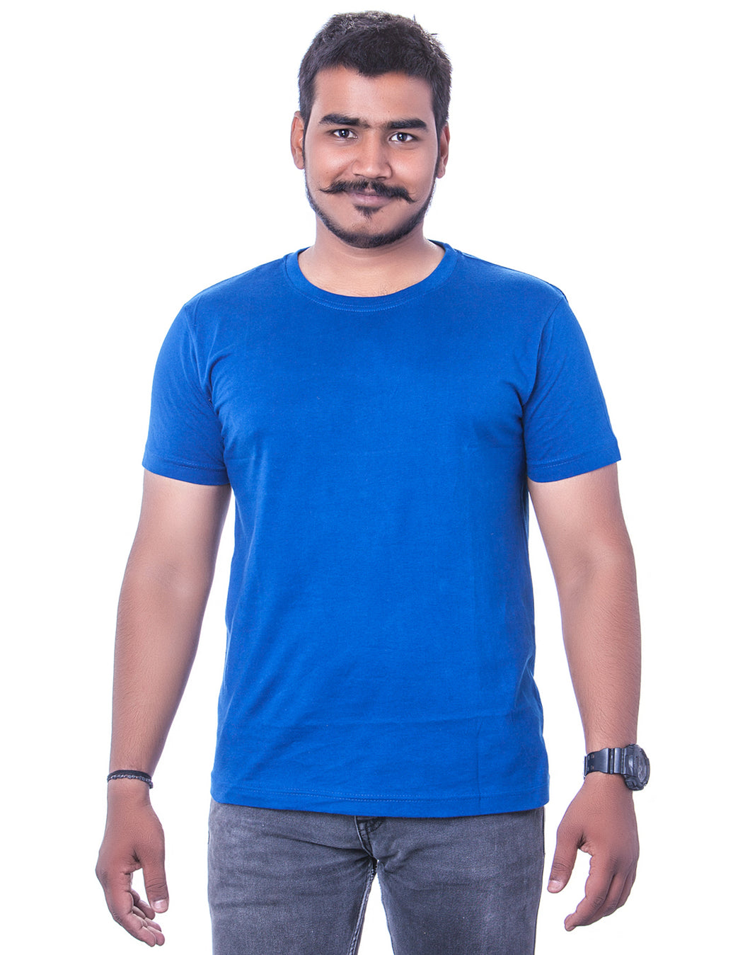 100% Cotton Royal Blue Round Neck T-Shirts - Bestfit Sportswear