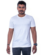 Load image into Gallery viewer, 100% Cotton White Basic Round Neck T-Shirts - Bestfit Sportswear