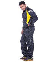 Load image into Gallery viewer, Black Regular Fit Super Poly Men's Tracksuit for Sports | Training | Gym | Winterwear - Bestfit Sportswear