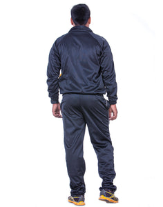 Black Regular Fit Super Poly Men's Tracksuit for Sports | Training | Gym | Winterwear - Bestfit Sportswear