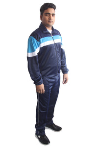 Navy Blue Regular Fit Super Poly Men's Tracksuit for Sports | Training | Gym | Winterwear - Bestfit Sportswear