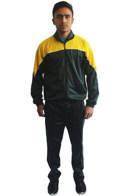Bottle Green Regular Fit Super Poly Men's Tracksuit for Sports | Training | Gym | Winterwear - Bestfit Sportswear
