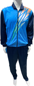 Sublimation Regular Fit Super Poly Men's Tracksuit for Sports | Training | Gym | Winterwear (Blue Design) - Bestfit Sportswear