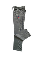 Load image into Gallery viewer, Light Grey Mens Track Pants with Blue Stripes Super Poly Lower  for Sports & Nightwear - Bestfit Sportswear