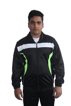 Load image into Gallery viewer, Black with White Pattern Regular fit Super Poly Sports Tracksuit - Bestfit Sportswear