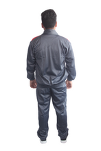 Load image into Gallery viewer, Dark Grey with Red Pattern Regular fit Super Poly Sports Tracksuit - Bestfit Sportswear