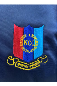 Blue NCC Cadets Tracksuit with NCC Logo embroidery & 2 Stripes (Sky blue & Red) - Bestfit Sportswear