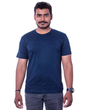 Load image into Gallery viewer, 100% Cotton Navy Blue Round Neck T-Shirts - Bestfit Sportswear