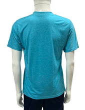 Load image into Gallery viewer, Poly Grindle Round V Neck Plain Blue T-shirt - Bestfit Sportswear