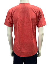 Load image into Gallery viewer, Poly Grindle Round V Neck Plain Red T-shirt - Bestfit Sportswear