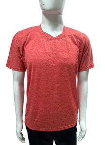 Poly Grindle Round V Neck Plain Red T-shirt - Bestfit Sportswear