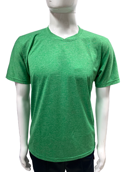 Poly Grindle Round V Neck Plain Green T-shirt - Bestfit Sportswear