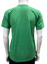 Load image into Gallery viewer, Poly Grindle Round V Neck Plain Green T-shirt - Bestfit Sportswear