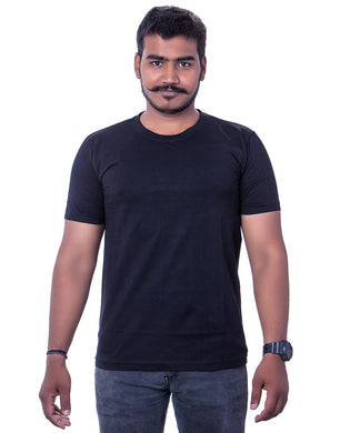 100% Cotton Black Round Neck T-Shirts - Bestfit Sportswear