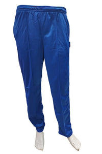 Royal blue Super Poly Lower Mens Track Pants for Sports & Nightwear - Bestfit Sportswear