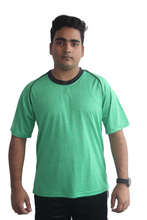 Load image into Gallery viewer, Poly Grindle Round Neck Green T-shirt - Bestfit Sportswear