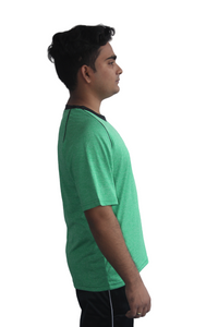 Poly Grindle Round Neck Green T-shirt - Bestfit Sportswear