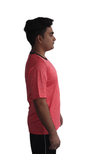 Poly Grindle Round Neck Red T-shirts - Bestfit Sportswear
