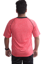 Load image into Gallery viewer, Poly Grindle Round Neck Red T-shirts - Bestfit Sportswear