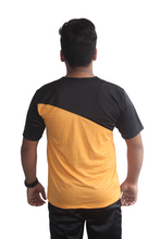 Load image into Gallery viewer, Poly Grindle Round Neck Yellow T-shirt with Black Pattern - Bestfit Sportswear