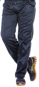 Black Super Poly Lower Mens Track Pants for Sports & Nightwear - Bestfit Sportswear