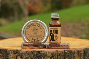 2 oz Forest Scented Beard Balm & 1 oz Forest Beard Oil & Kent Medium Pocket Comb