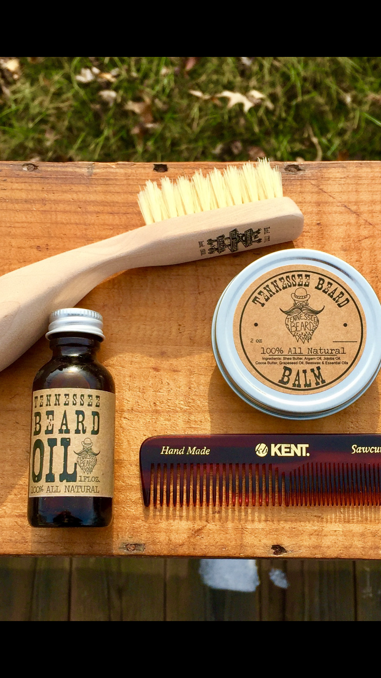 The Ultimate Beard Set  -  Oil,Balm,Comb & Handmade-Brush