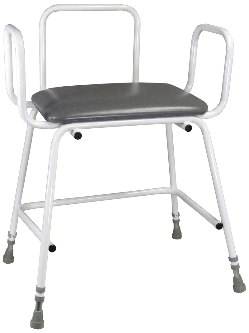 Torbay Heavy Duty Perching Stool - Padded Back (360mm)